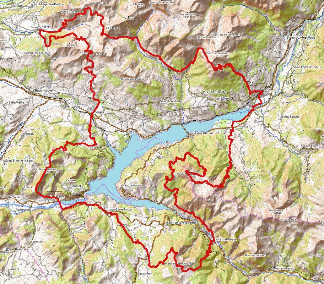 carte-parcours-grand-trail-de-Serre-Ponçon