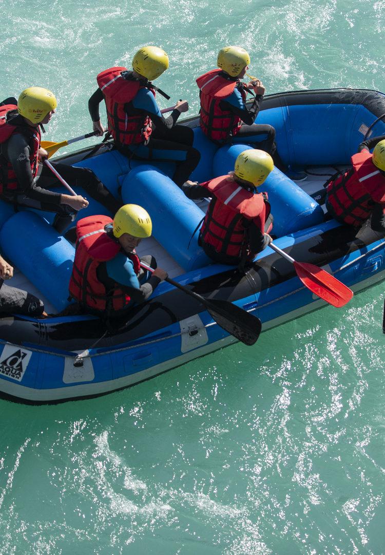Rafting dans la Durance
